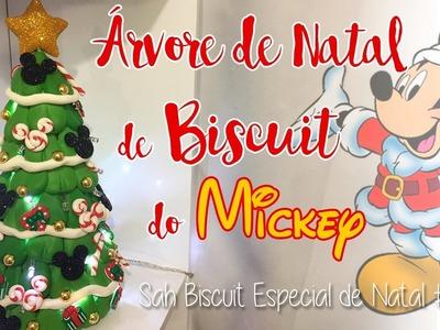 DIY - ÁRVORE DE NATAL EM BISCUIT DO MICKEY - Sah Passa o Passo Especial de Natal #01