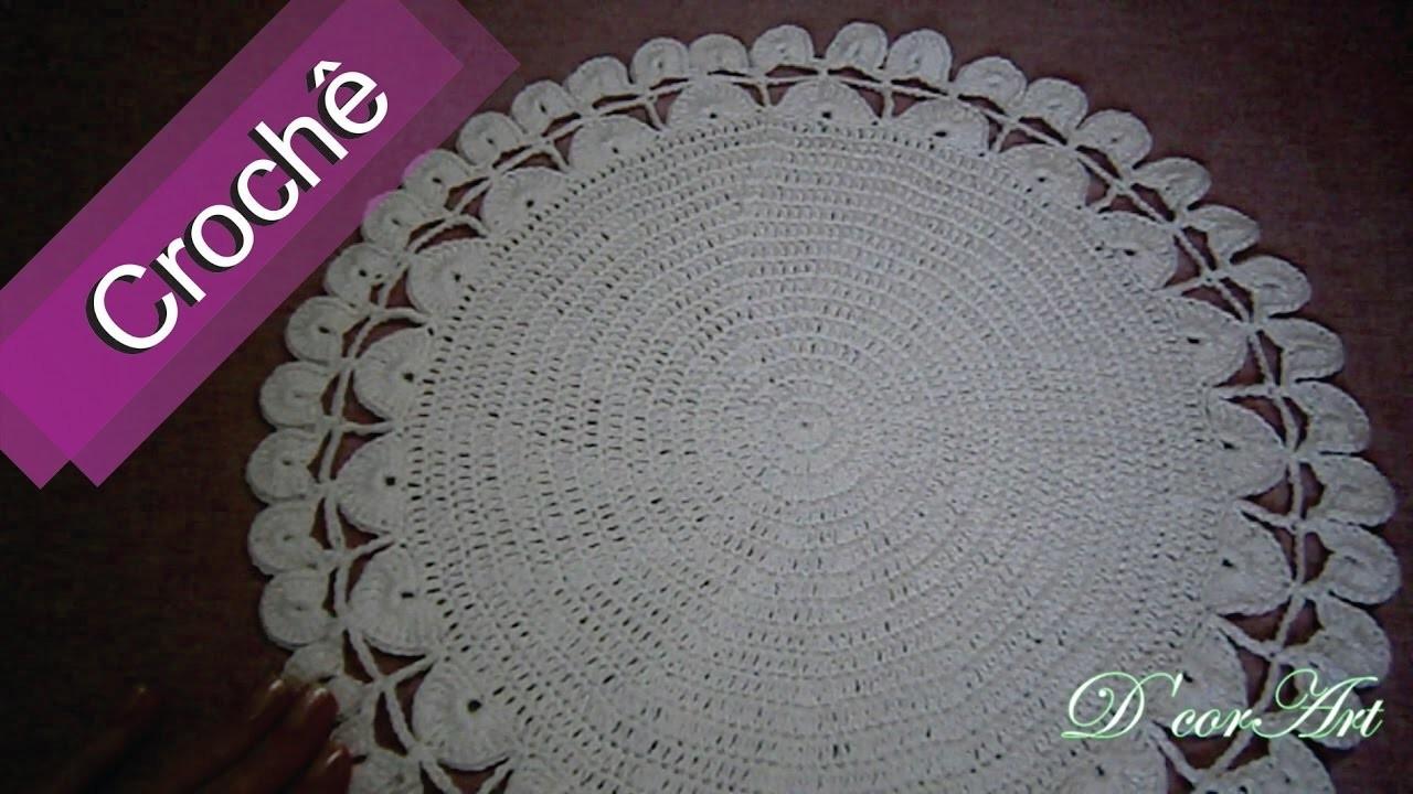 DIY - Crochê - Sousplat Branco (Passo a Passo)