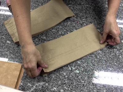 Enfeite com saco de papel craft
