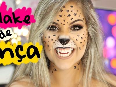 Maquiagem de Onça para o Carnaval e Halloween (Leopard MakeUp Tutorial) Gabriela Capone