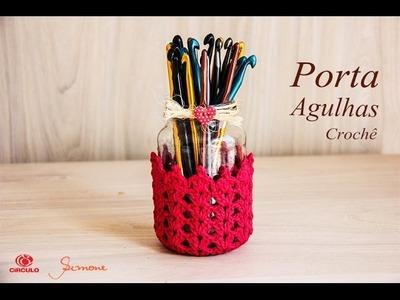 Porta agulhas Decorado com Crochê | Professora Simone