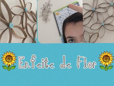 Quick Craft Enfeite de Parede de Flor ~Stephanie Mello!