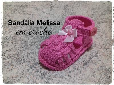 Sandália Melissa em crochê