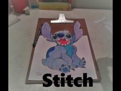 Stitch em 3D - Desenho Cartoon