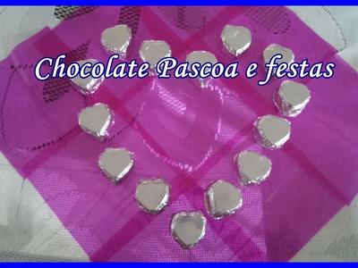 Chocolate  no ponto em forma de coração