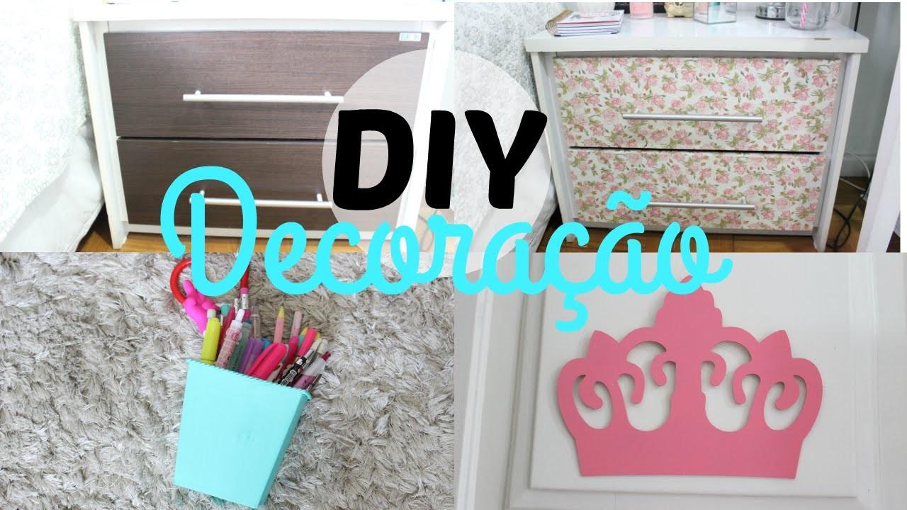 DIY decoração   criado-mudo, porta lápis e mais