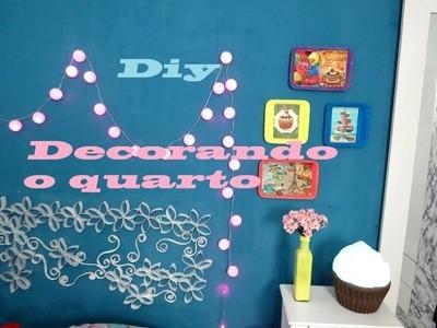 DIY Como decorei a parede do meu quarto