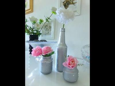 DIY: Customização em garrafa e potinhos de papinha.♡♡♡
