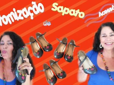 DIY - Do Lixo ao Luxo - Customização em Sapato - Acessórios - DICAS