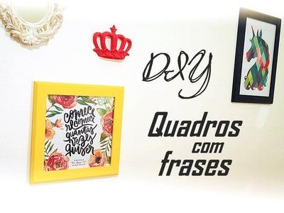 DIY: Quadros com Frases | EM CASA por menos de 10 reais