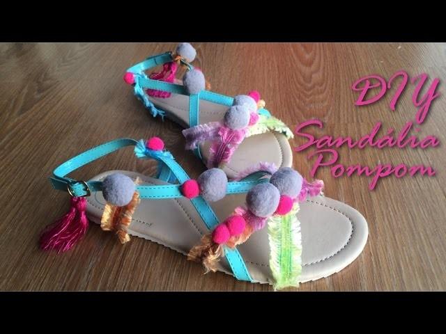 DIY - Sandália de Pompom!