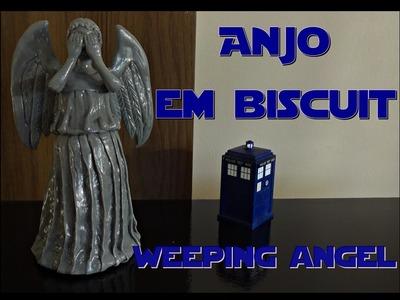 Como fazer um weeping angel - estátua de anjo em biscuit