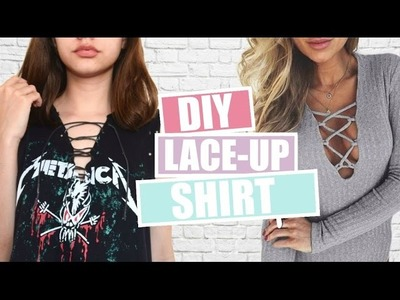 DIY: Blusa com Decote Trançado (Lace Up Shirt)