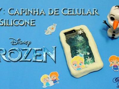 DIY Frozen (Disney): Como fazer Capinha de Celular Líquida e de Silicone | Corujices da Lu