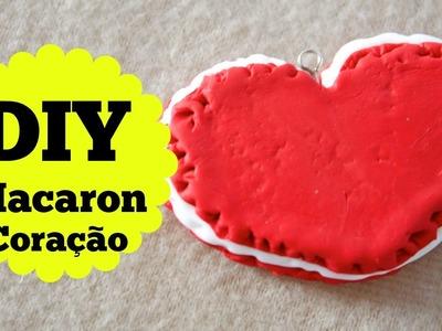 DIY - Macaron Coração - Pingente - Tutorial - Valentine Day