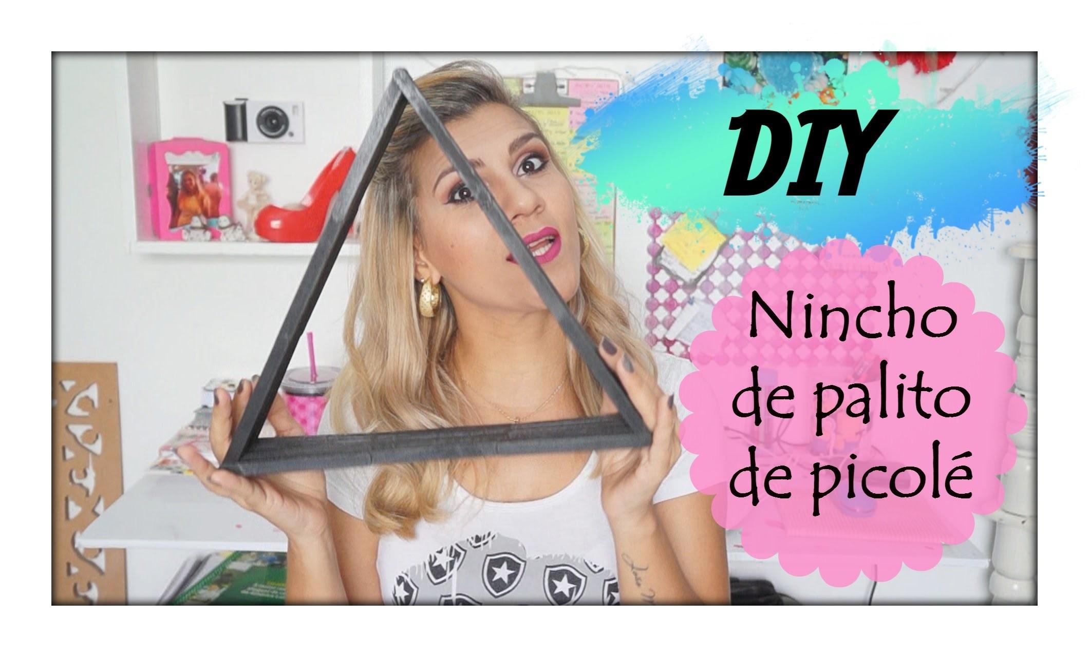 DIY- Nincho de palito de Picolé (Triângulo)
