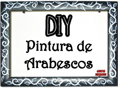 DIY:: PINTURA Vintage de Arabescos || #DIYPintura || Garota VintaGeek
