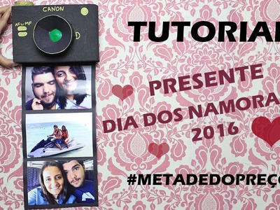 DIY: Porta retrato de câmera fotográfica #MetadeDoPreço
