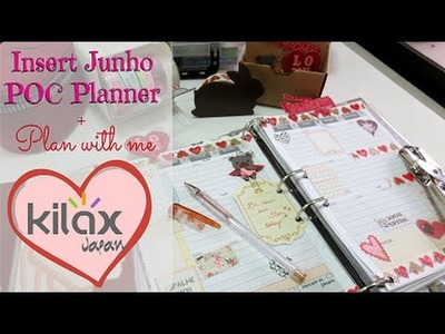 Planner 2016 Junho download DIY tutorial + Plan with me e com Kilax Japan | #POCPlanner