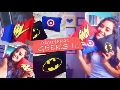 Como Fazer Almofadas Geeks  | Diy Nathy Araujo