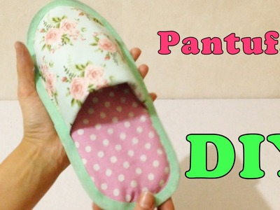 Como Fazer Pantufa para Adulto de Tecido Sem Costura - Artesanato DIY
