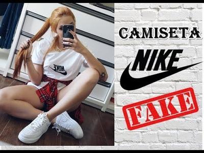 DIY: Camiseta Fake da Nike Inspirado em AMANDA PONTES!!!