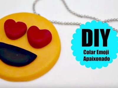 DIY - COLAR EMOJI APAIXONADO - POLYMER CLAY
