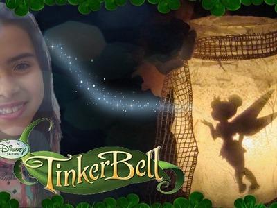 DIY: Como fazer lanterna (Luminária) de fada da Tinker Bell ( Sininho) Fairy Lantern! Abajur!