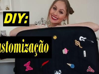 DIY: Customização de Mala com Patches :)