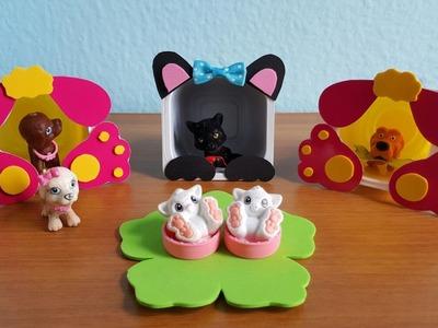 DIY - ( DO LIXO AO LUXO ) Casas de GATOS e CACHORROS para Barbie e Outras Bonecas !!!