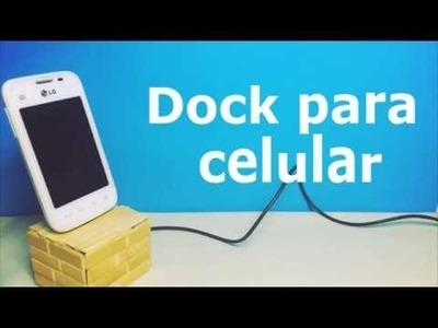 DIY l Dock para celular