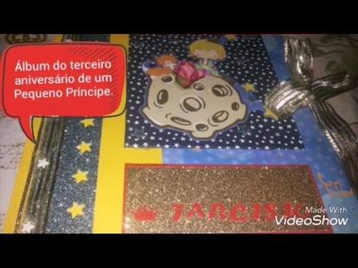 "Álbum Scrapbook ""O Pequeno Príncipe"""