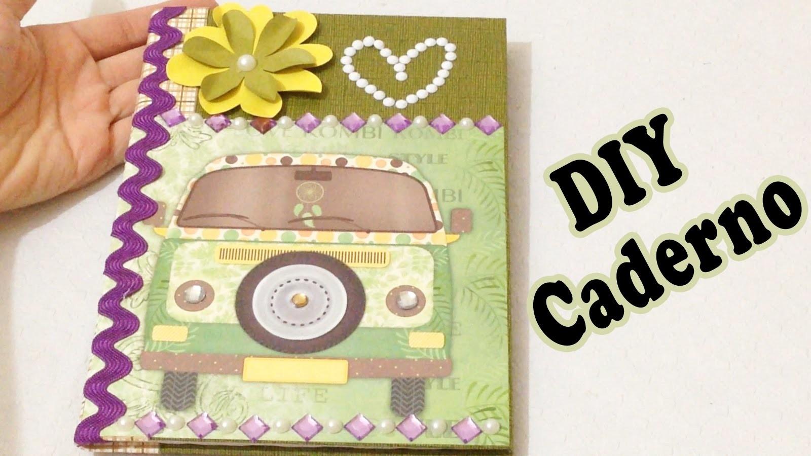 Customizando Caderno com Scrapbook Passo a Passo - DIY Artesanato
