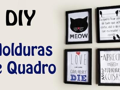 DIY: COMO FAZER MOLDURA DE QUADRO com Papel Cartão para Decorar Quarto Estilo Tumblr