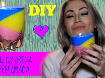 #DIY Como Fazer Vela Colorida e Perfumada!