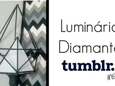 DIY: Luminária  geométrica por menos de 5 reais -tumblr inspired- Aline Freitas