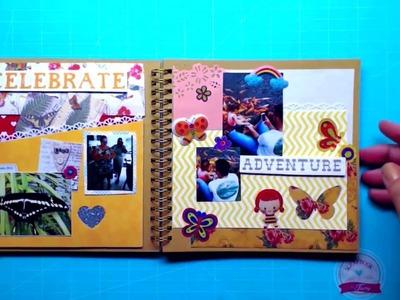 PAP Álbum decorado- Fevereiro 2016 -Scrapbook by Tamy