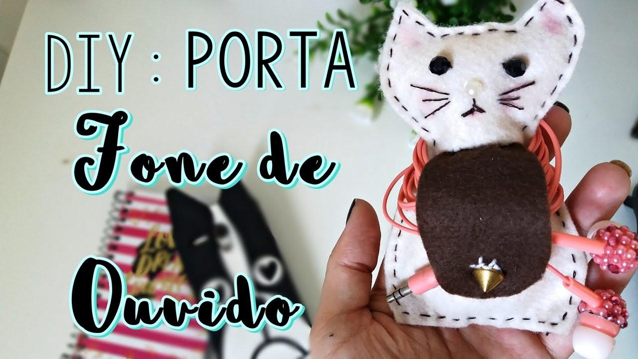 Porta Fone de Ouvido DIY ♥ Gatinho Fofo
