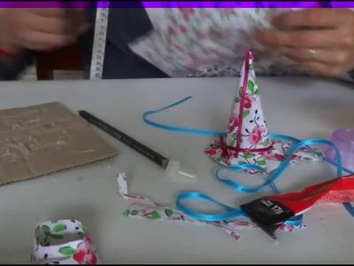 Como fazer um Chapéu de bruxa - Especial Halloween  How to Make a Witch Hat