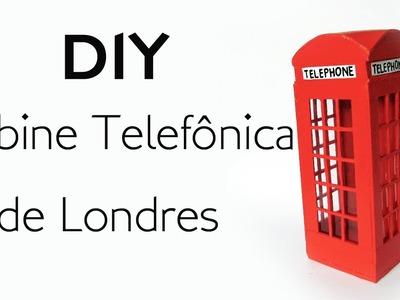 DIY: Como Fazer uma CABINE DE LONDRES para Decoração - Artesanato com Palitos de Picolé e Fósforo