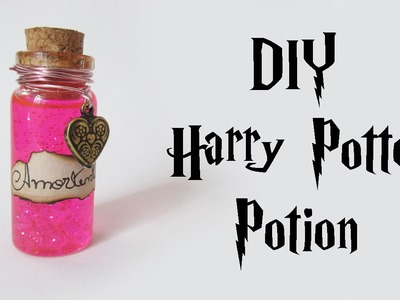 DIY: Poção do Amor - Amortentia (Harry Potter Potion - Bottle Charm) Ideias Personalizadas - DIY