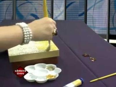 Programa Você Mulher - Caixa com Textura de Toalha de Plástico