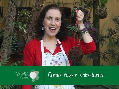 Como Fazer Kokedama.How to Make Kokedama - A Menina do Dedo Verde