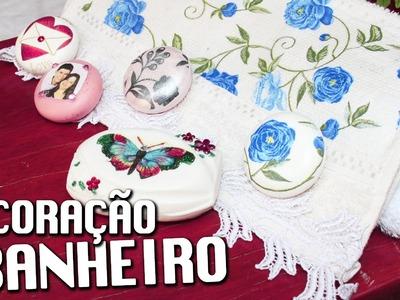 DECOUPAGE EM TOALHA DE ROSTO E SABONETE  ❤  - CURSO DE ARTESANATO BELLA ART'S