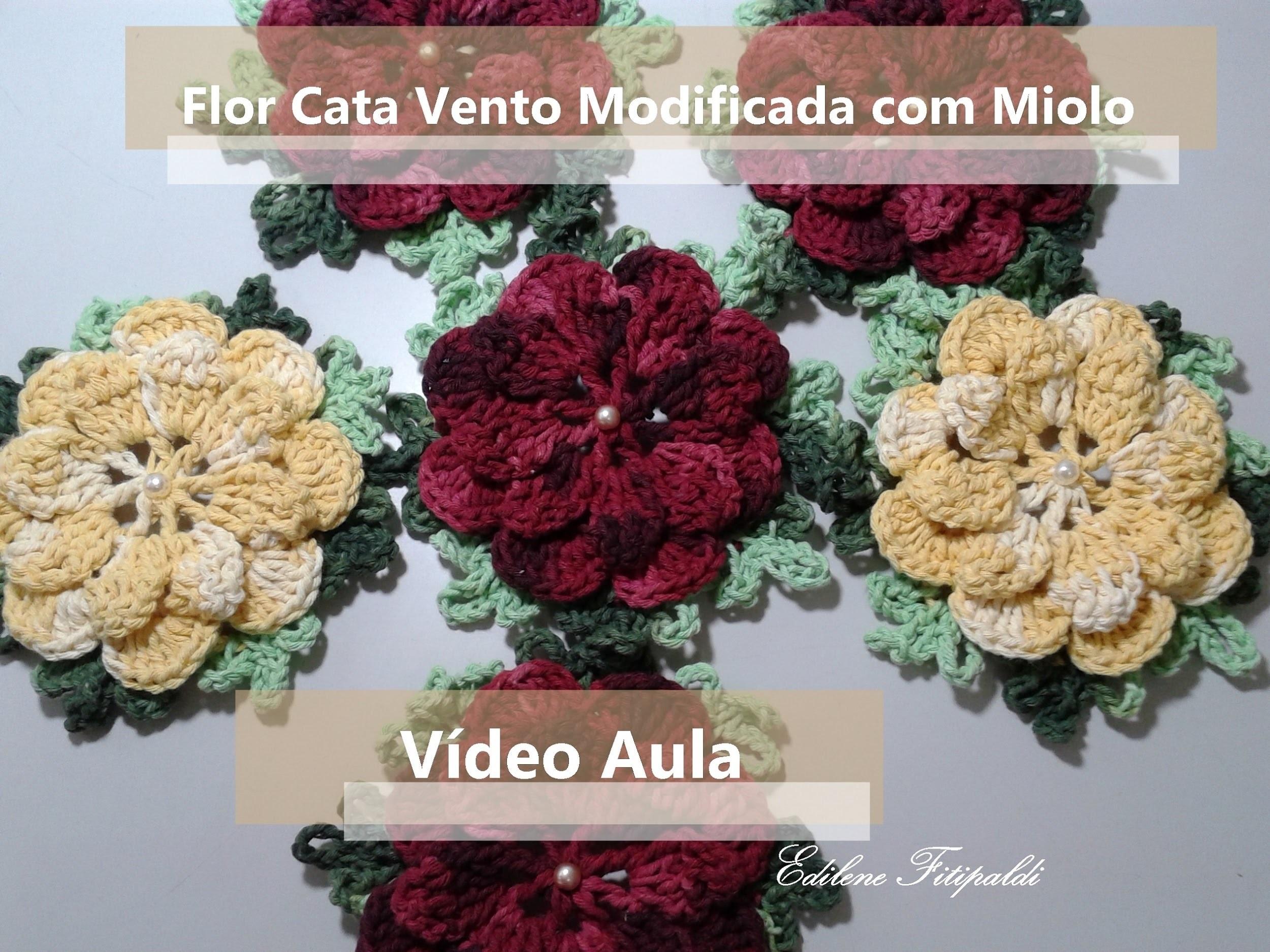 Flor Cata Vento Modificada com Miolo
