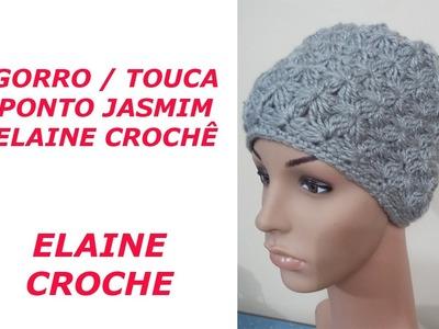 GORRO PONTO JASMIM EM CROCHÊ
