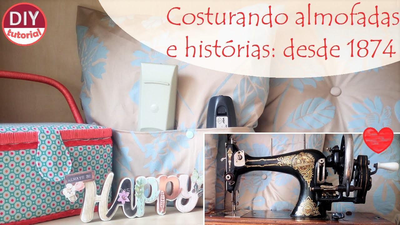 Máquina de costura do século XIX e tutorial de almofada e porta controle remoto (DIY Tutorial)