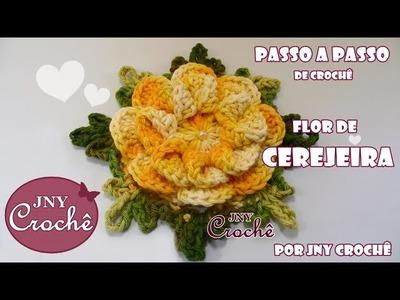 PAP Flor de Cerejeira | Remake | - JNY Crochê