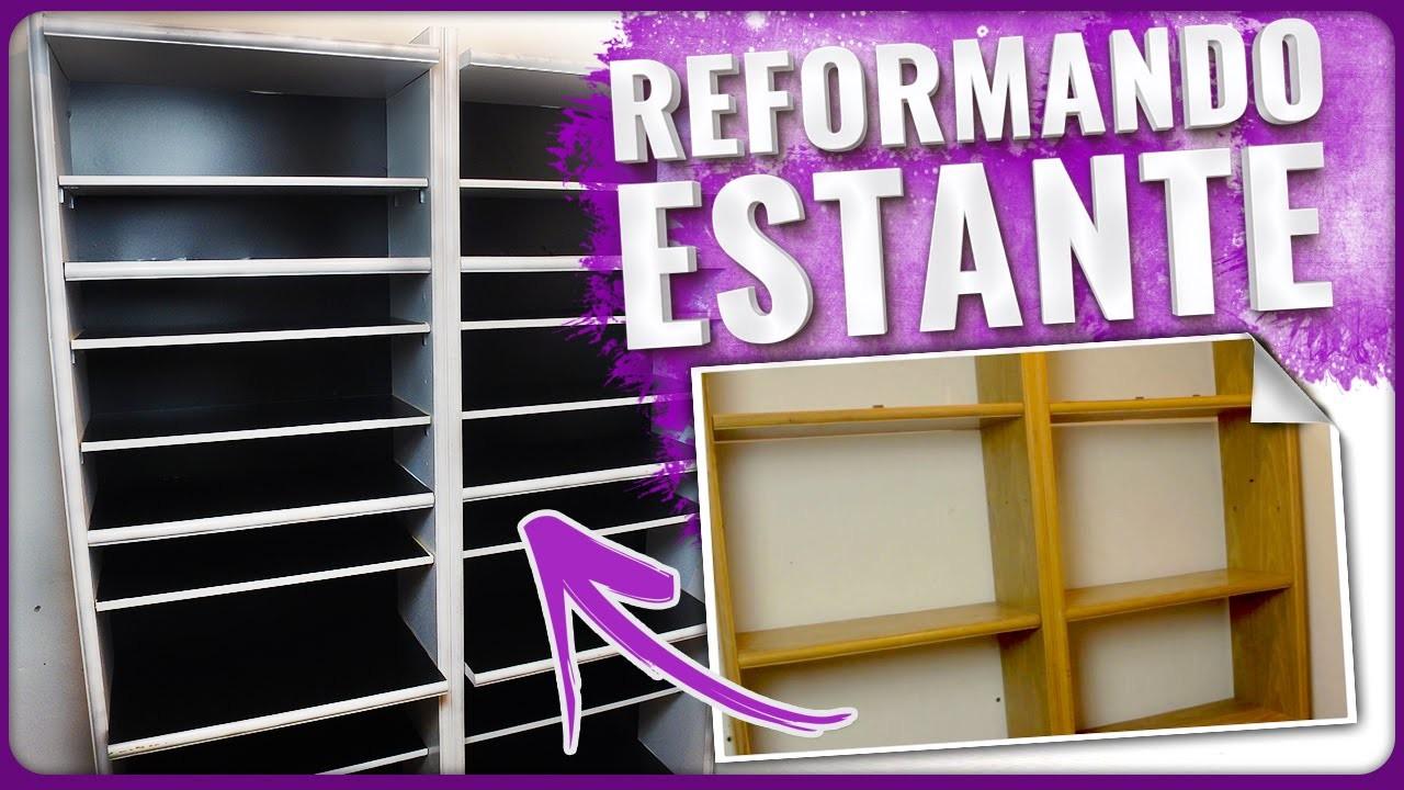 Reformando Estante com Con-tact e Tinta Spray | =DiY