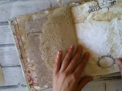 Álbum realizado com - coffee dyed paper (rose Garden)